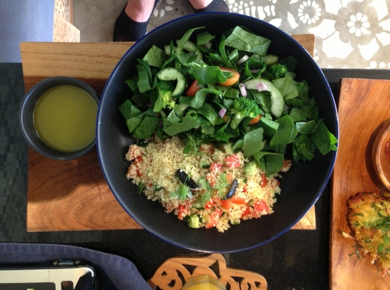 Cous cous Salad Bowl - A fresh, and healthy choice to for the afternoon Bali heat...